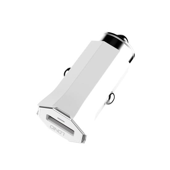 Auto punjac LDNIO C313Q USB 5V/3A FAST QC 3.0 microUSB beli