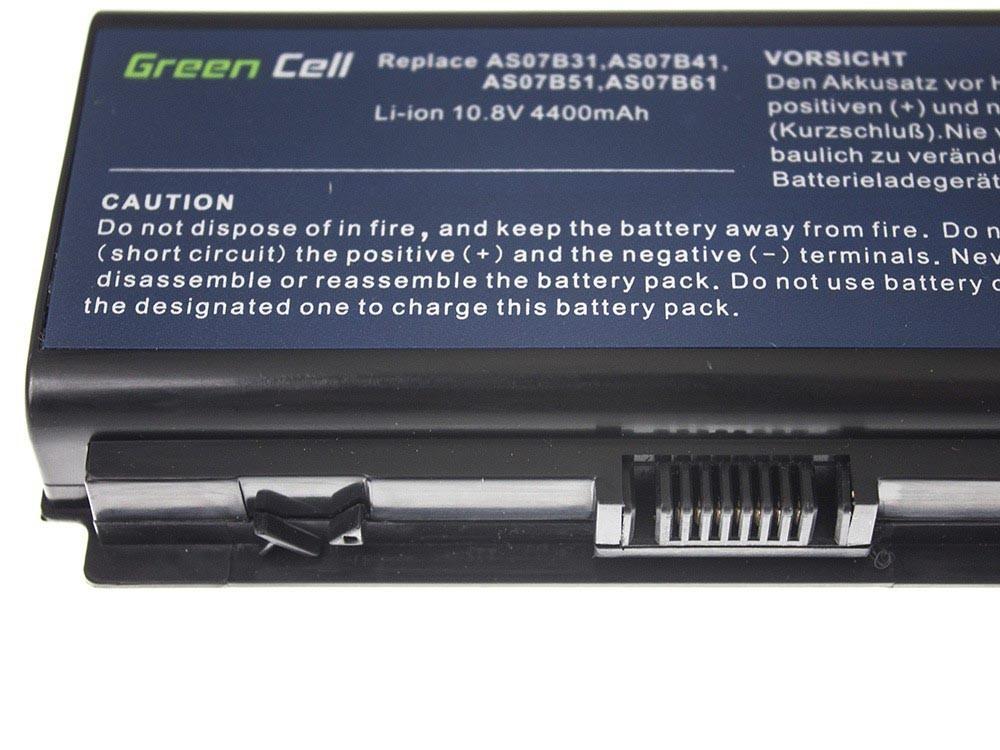 Green Cell Battery for Acer Aspire 5520 AS07B31 AS07B32 / 11,1V 4400mAh