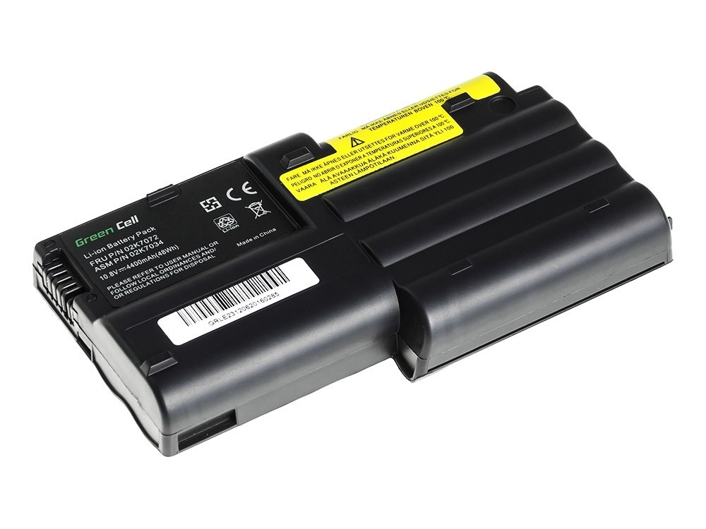 Green Cell Battery for Lenovo ThinkPad T30 / 11,1V 4400mAh
