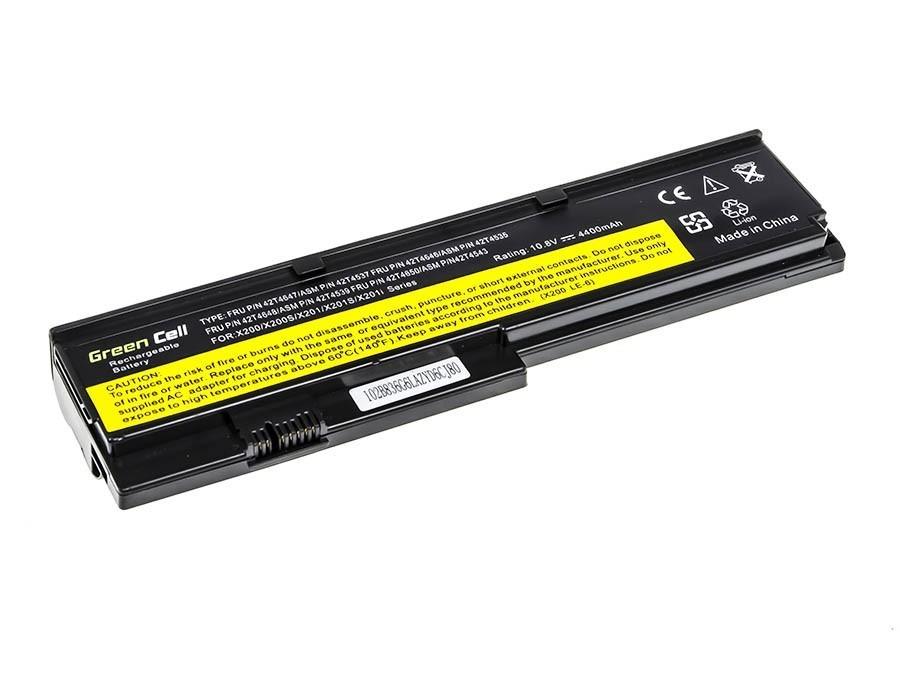 Green Cell Battery for Lenovo ThinkPad X200 X201 X200s X201i / 11,1V 4400mAh