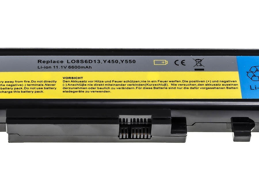 Green Cell Battery for Lenovo IdeaPad Y450 Y450A Y450G Y550 Y550A Y550P / 11,1V 6600mAh