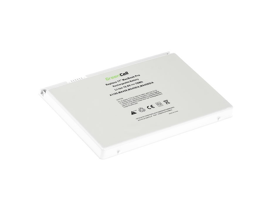 Green Cell Battery for Apple Macbook Pro 17 A1151 A1212 A1229 A1261 (2006, 2007, 2008) / 11,1V 6300mAh