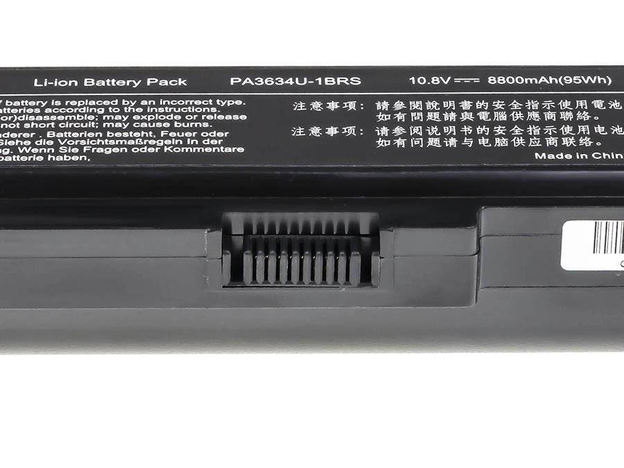 Green Cell Battery for Toshiba Satellite C650 C650D C660 C660D L650D L655 L750 PA3817U-1BRS / 11,1V 8800mAh