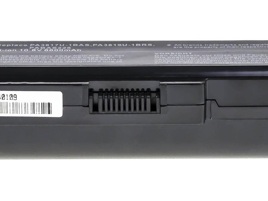 Green Cell Battery for Toshiba Satellite C650 C650D C660 C660D L650D L655 L750 PA3817U-1BRS / 11,1V 6600mAh