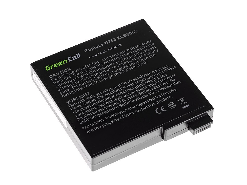 Green Cell Battery for Fujitsu-Siemens Amilo A8620 A7620 D6830 D7800 D7830 / 14,4V 4400mAh