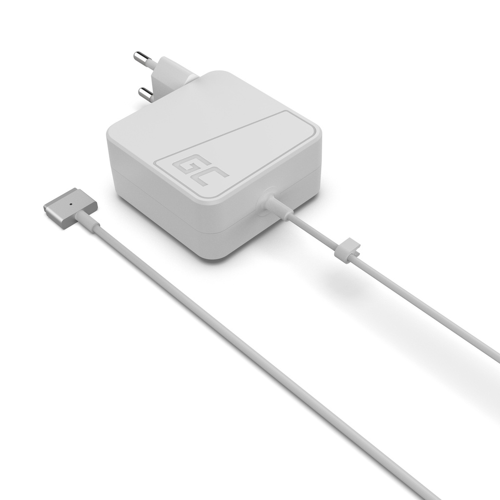 Green Cell Charger  AC Adapter for Apple Macbook 45W / 14.5V 3.1A / Magsafe 2