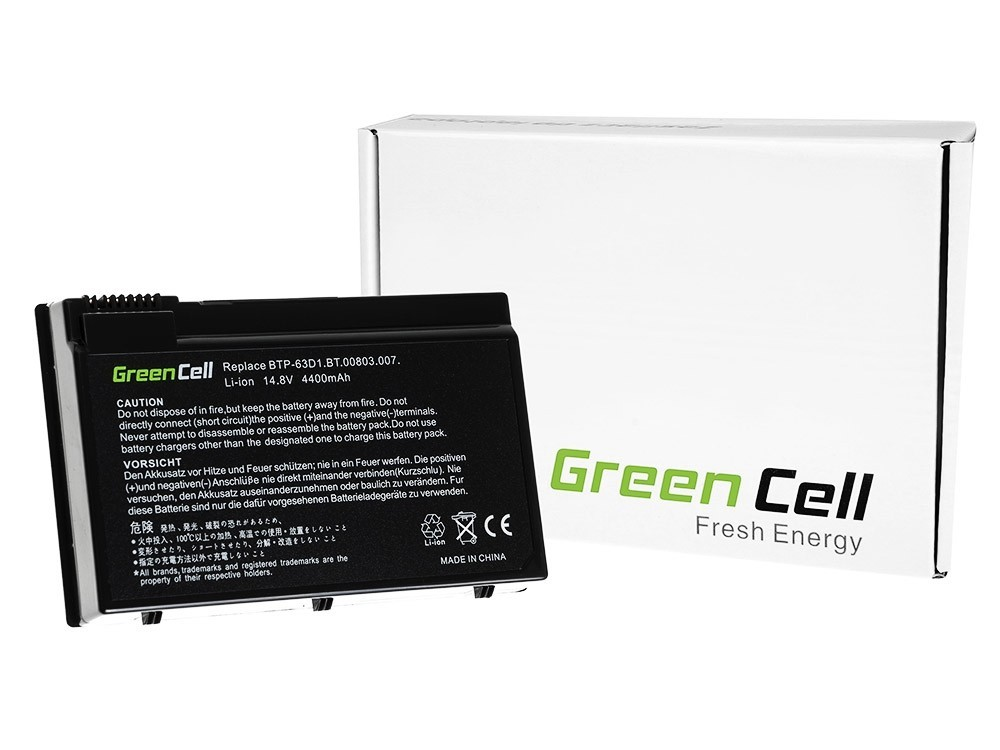 Green Cell Battery for Acer TravelMate 4400 C300 2410 Aspire 3020 3610 5020 / 11,1V 4400mAh
