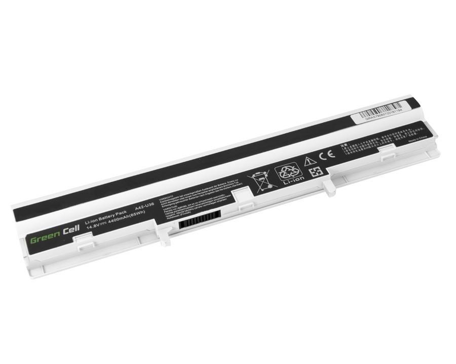Green Cell Battery for Asus U32 U32U X32 U36 U36J U36S (white) / 14,4V 4400mAh