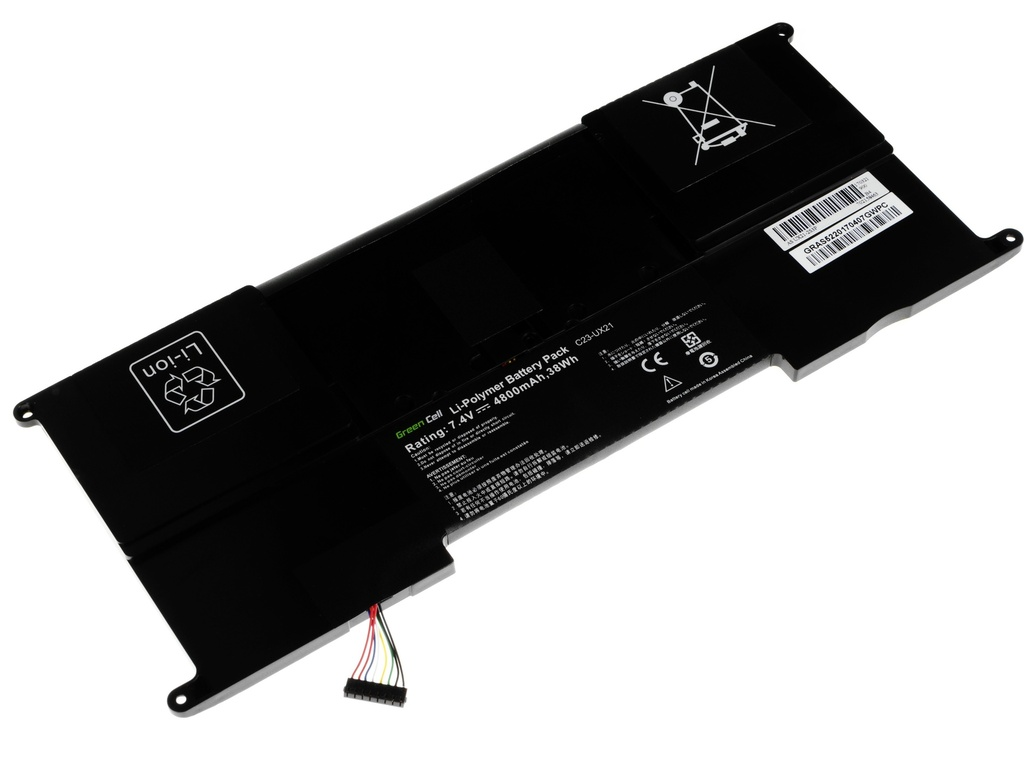 Green Cell Battery for Asus ZenBook UX21 UX21A UX21E / 7,4V 4050mAh