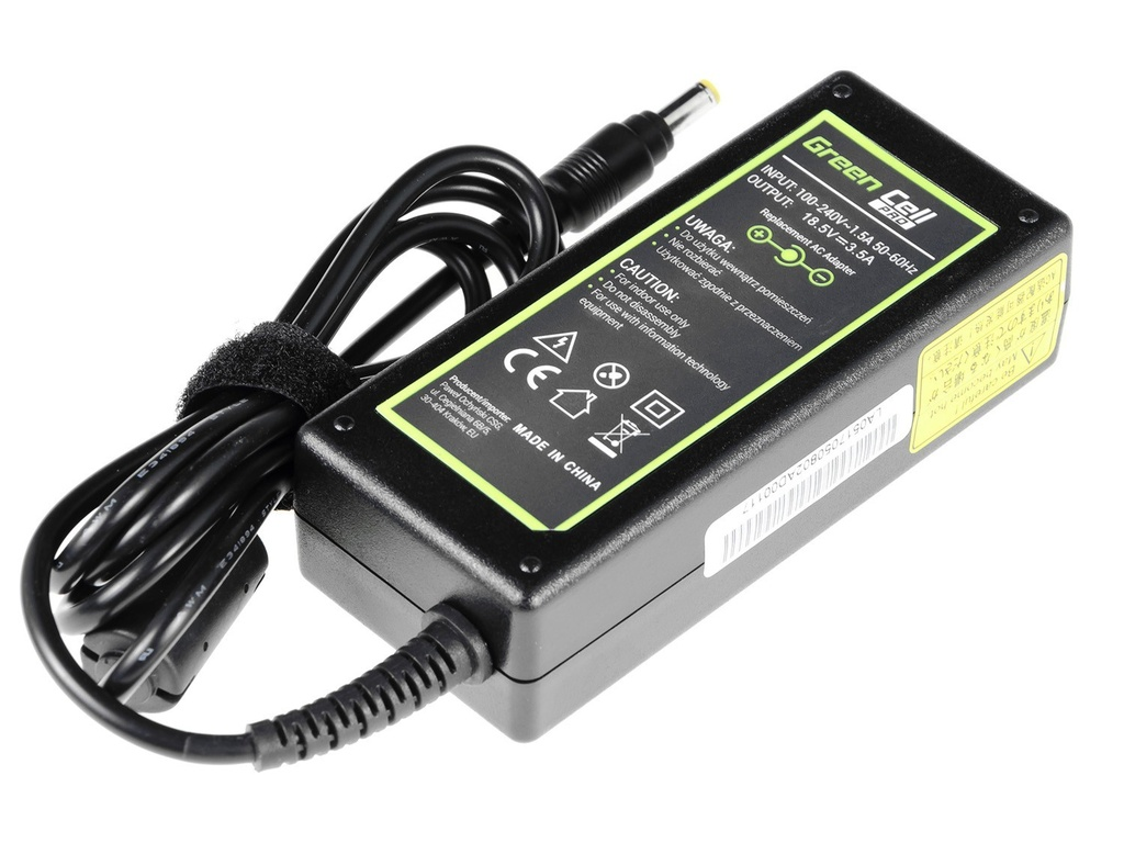 Green Cell Charger  AC Adapter for HP 65W / 18.5V 3.5A / 4.8mm-1.7mm