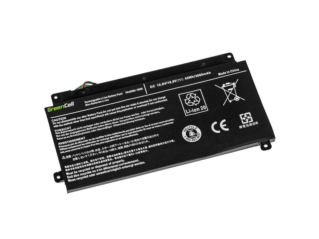 Green Cell Battery for Toshiba Satellite Radius 15 P50W P55W, Toshiba ChromeBook 2 CB30-B / 11,1V 3400mAh