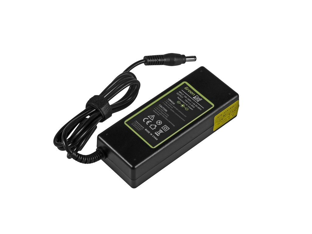 Green Cell PRO Charger  AC Adapter for Toshiba Asus 75W / 19V 3.95A / 5.5mm-2.5mm