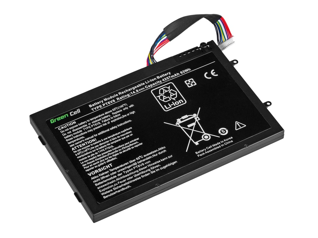 Green Cell Battery for Dell Alienware M11x R1 R2 R3 M14x R1 R2 R3 / 14,4V 4000mAh