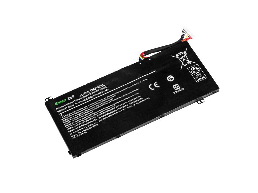 Green Cell Battery for Acer Aspire Nitro V15 VN7-571G VN7-572G VN7-591G VN7-592G / 11,4V 3800mAh