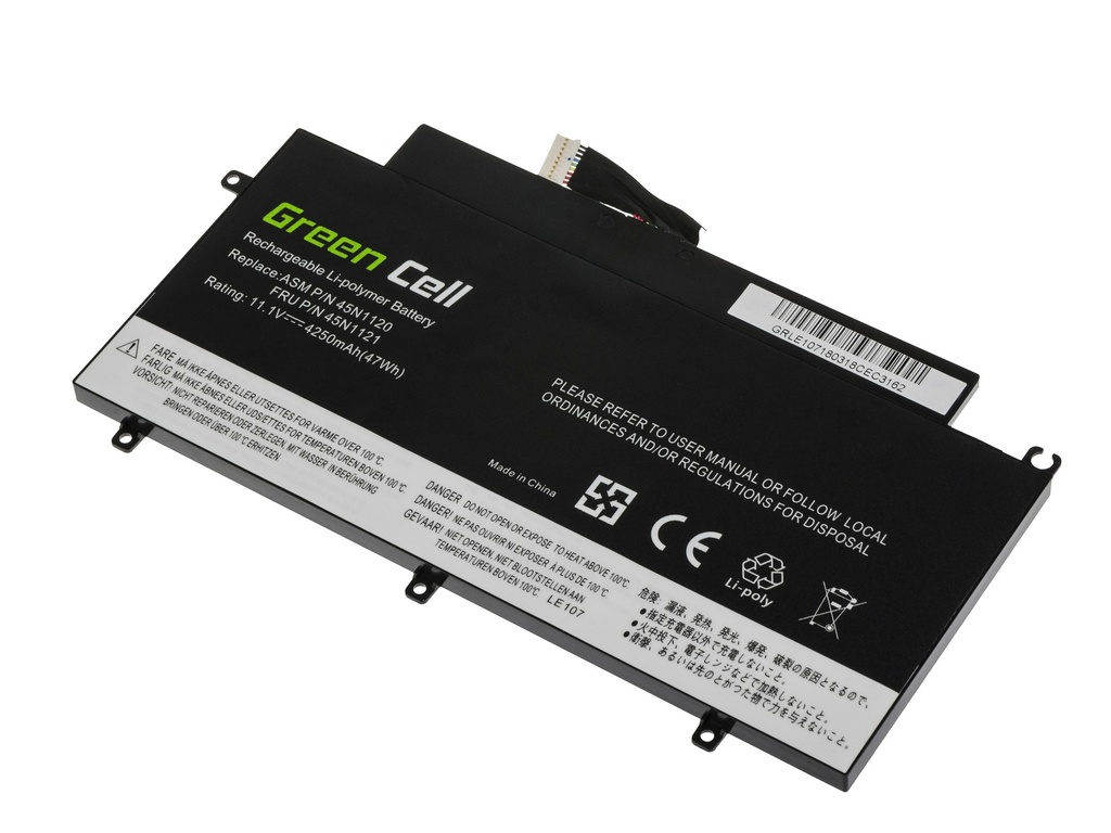 Green Cell Battery for Lenovo ThinkPad T431s / 11,1V 4250mAh
