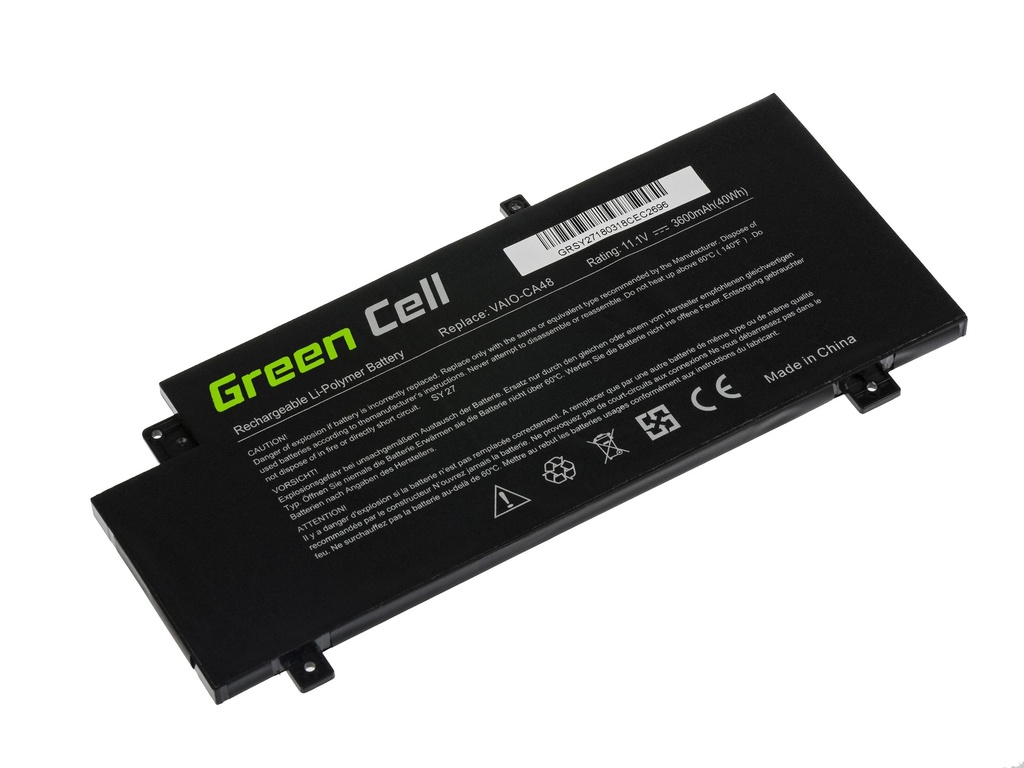 Green Cell Battery for Sony Vaio Fit 15 SVF15A / 11,1V 3600mAh