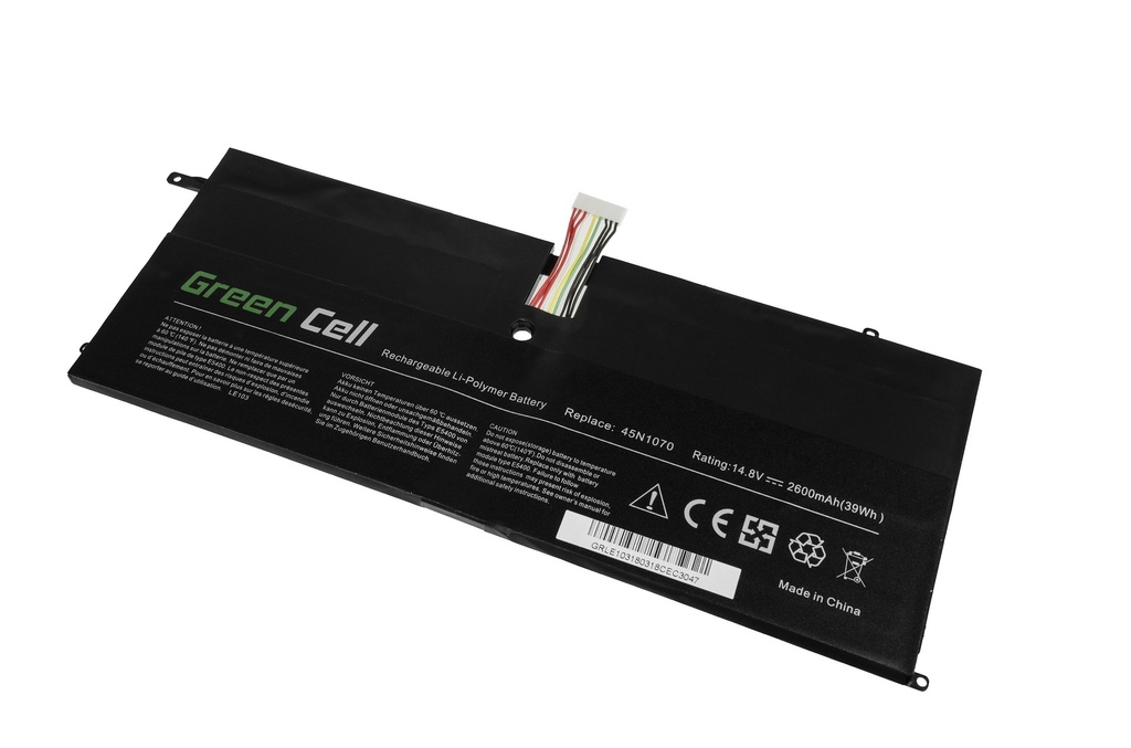 Green Cell Battery for Lenovo ThinkPad X1 Carbon 1 Gen 3443 3444 3446 3448 3460 3462 3463 / 14,4V 2600mAh