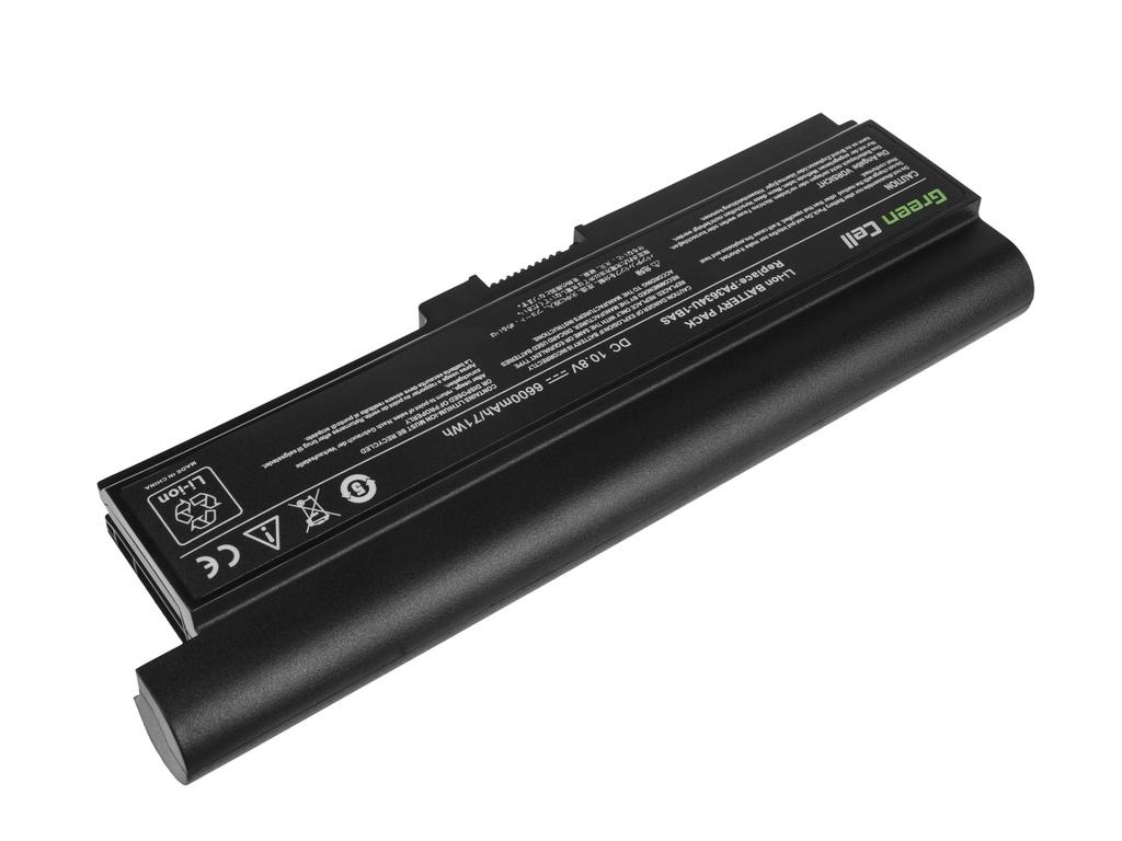 Green Cell Battery for Toshiba Satellite C650 C650D C660 C660D L650D L655 L750 PA3634U-1BRS / 11,1V 6600mAh
