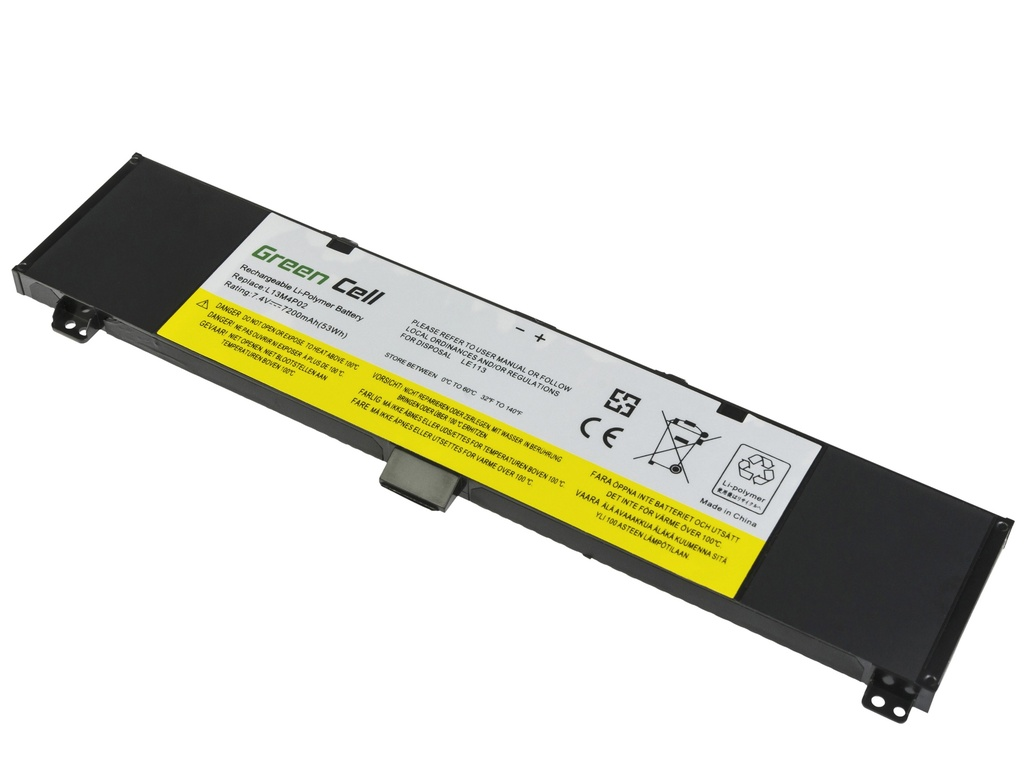 Green Cell Battery for Lenovo Y50 Y50-70 Y70 Y70-70 / 7,4V 7200mAh