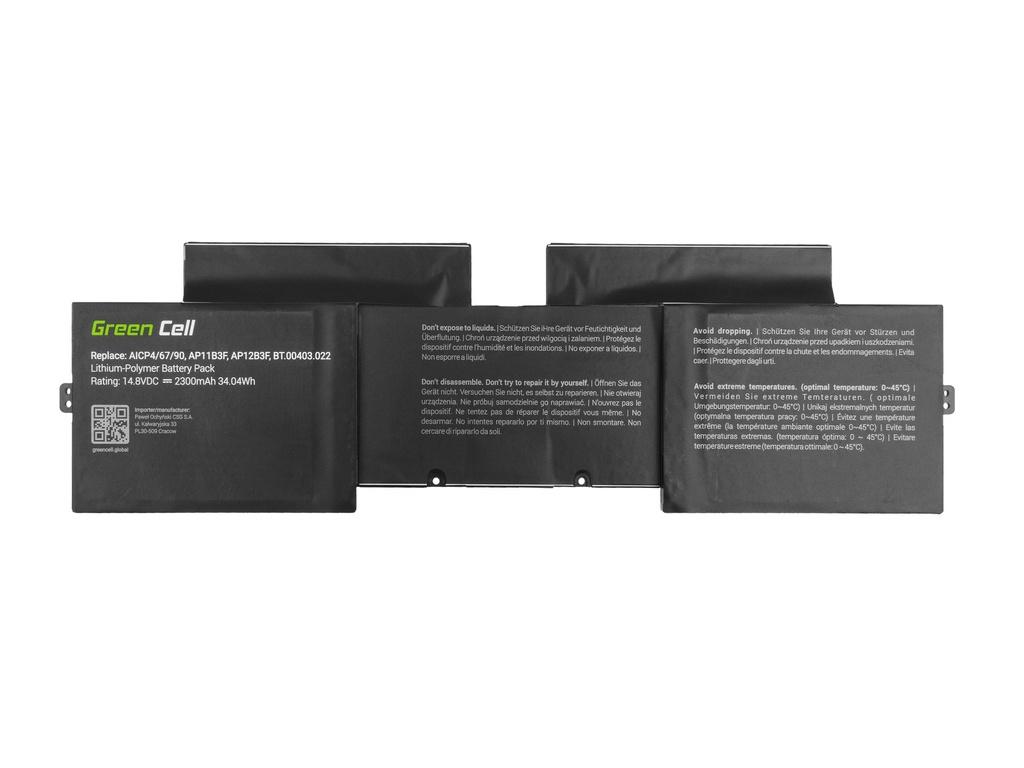 Green Cell Battery for Acer Aspire S5-391 AP12B3F / 14,4V 2300mAh