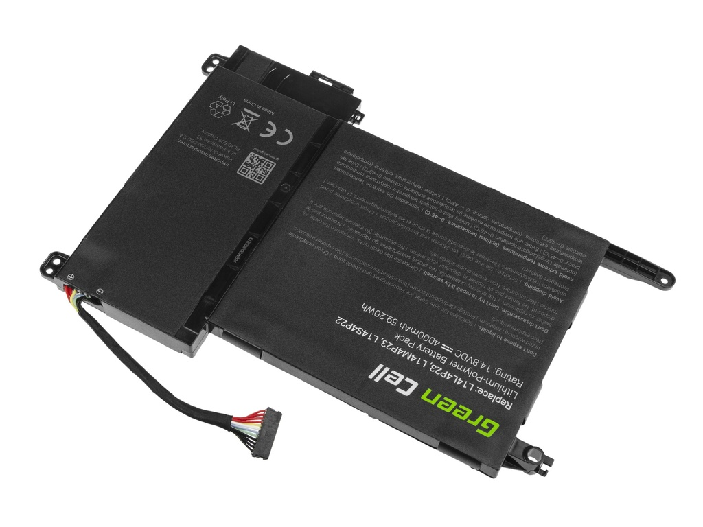 Green Cell Battery for Lenovo IdeaPad Y700-15ACZ Y700-15ISK Y700-17ISK / 14,4V 4000mAh