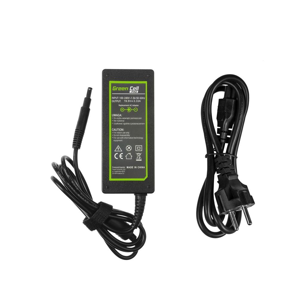 AC adapter Green Cell PRO 19.5V 3.33A 65W for HP Pavilion 15-B 15-B020EW 15-B020SW 15-B050SW 15-B110SW HP Envy 4 6