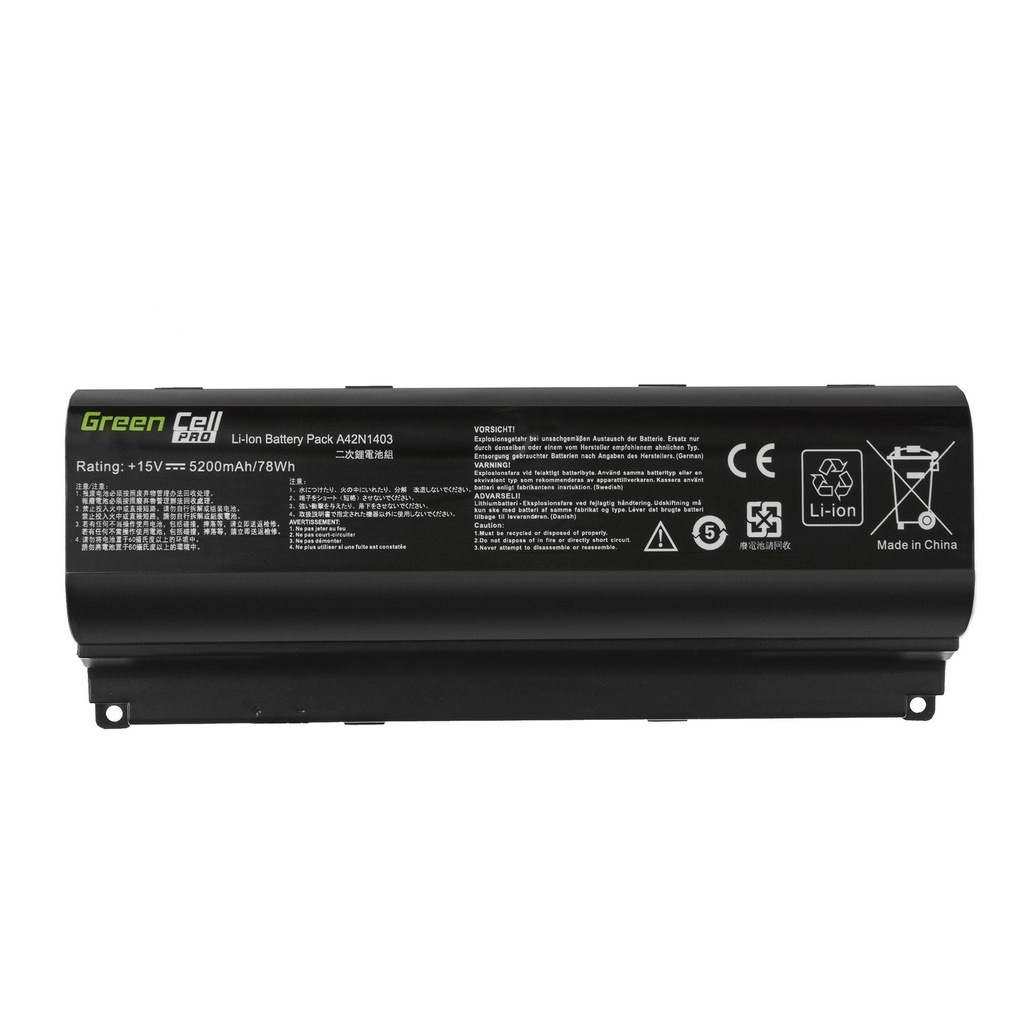 Green Cell PRO Battery A42N1403 for Asus ROG G751 G751J G751JL G751JM G751JT G751JY / 15V 5200mAh