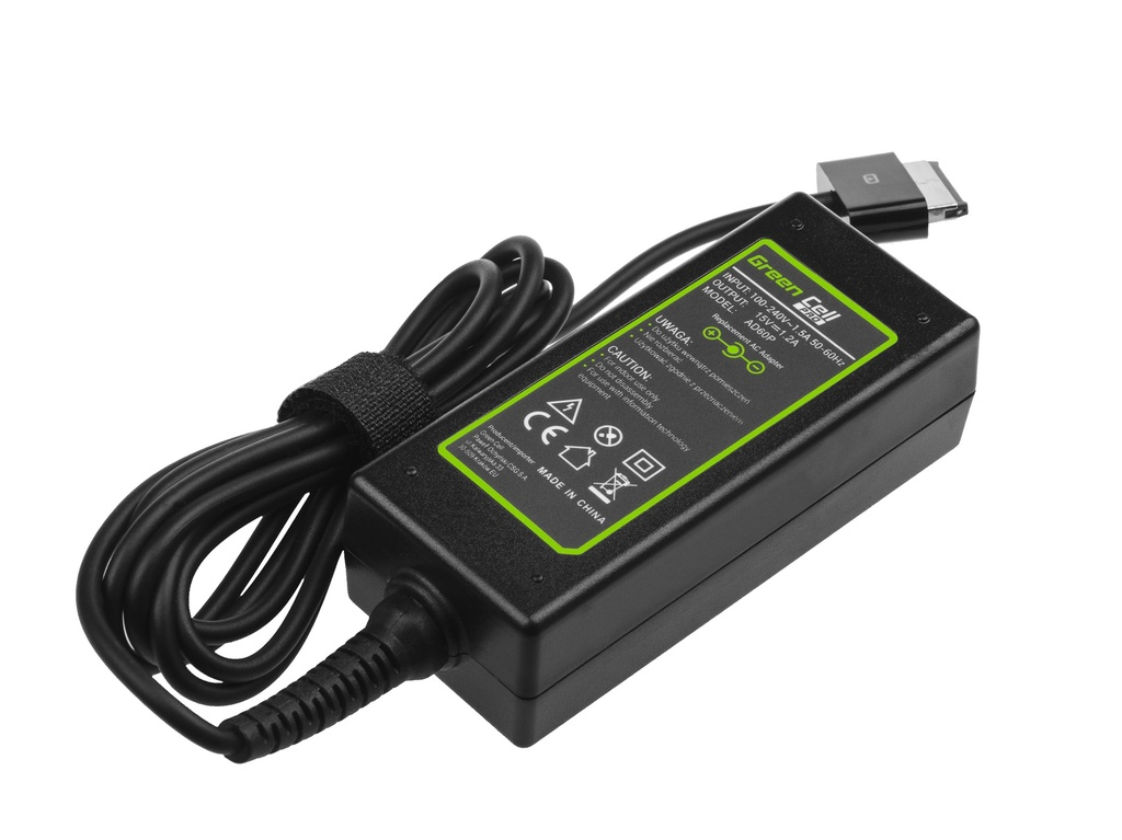 Green Cell PRO Charger  AC Adapter for Asus Eee Pad Transformer TF101 TF201 TF300 TF300T TF300TG 15V 1.2A 18W