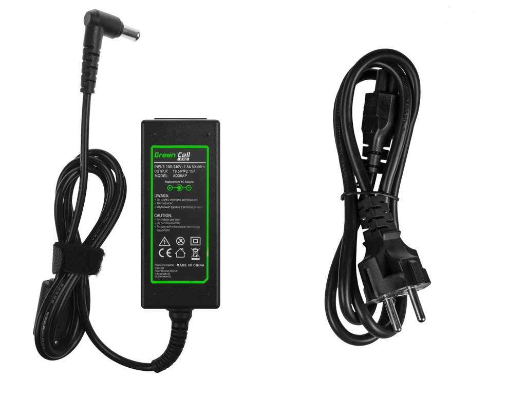 Green Cell PRO Charger  AC Adapter for Sony Vaio W11 W12 PCG-31311M PCG-31311L VPCYB1S1E VPCYB3V1E 19.5V 2.15A 40W