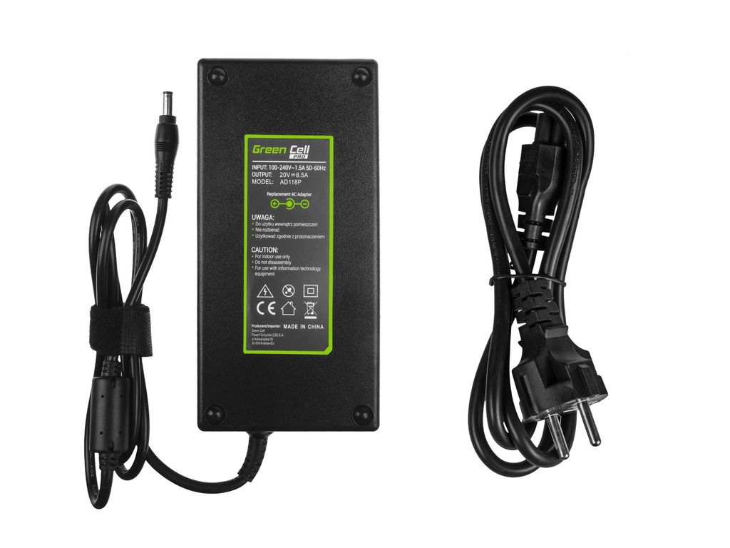 Green Cell PRO Charger  AC Adapter for Lenovo IdeaPad Y400 Y410p Y500 Y510p 20V 8.5A 170W