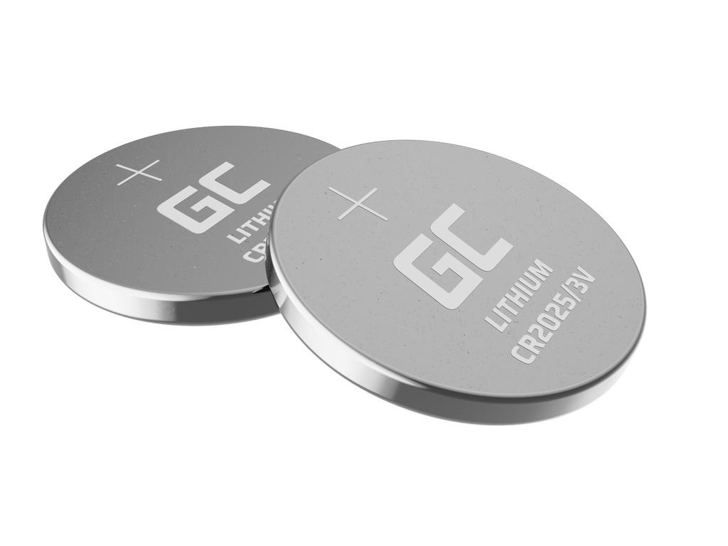 5x Lithium Green Cell CR2025 3V 160mAh Batteries