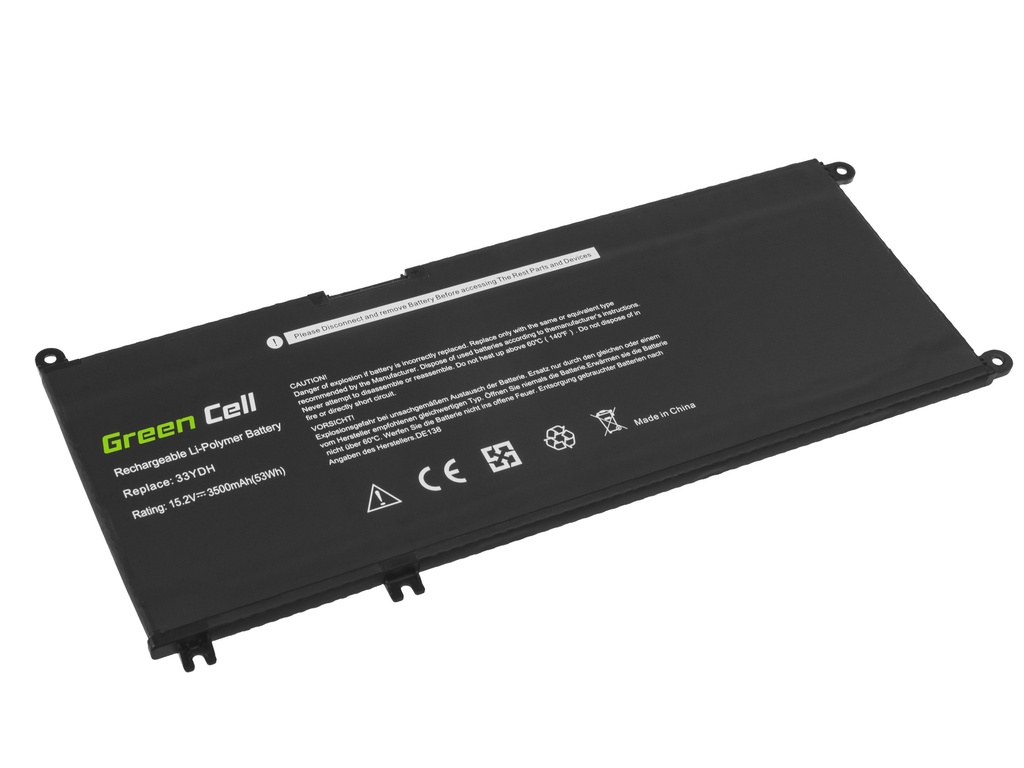Green Cell Battery 33YDH for Dell Inspiron G3 3579 3779 G5 5587 G7 7588 7577 7773 7778 7779 7786 Latitude 3380 3480 3490 3590