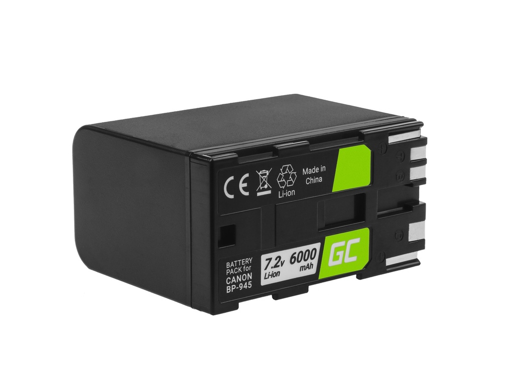 Battery Green Cell ® BP-80 BP-941 BP-945 for cameras Canon DM-XL1, ES5000, XL1 7.2V 6000mAh