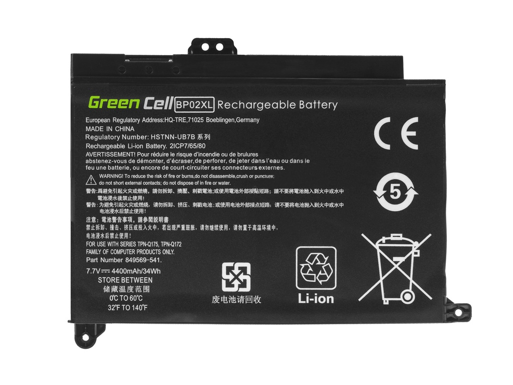 Laptop Battery Green Cell BP02XL for HP Pavilion 15-AU 15-AU051NW 15-AU071NW 15-AU102NW 15-AU107NW 15-AW 15-AW010NW