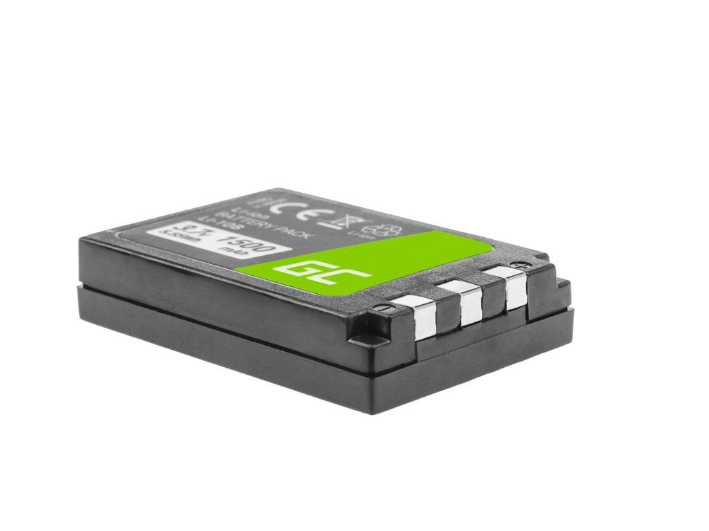 Battery Green Cell ® Li-10B  LI-10B for cameras Olympus Stylus 300, µ 800,Camedia X-2 3.7V 1500mAh