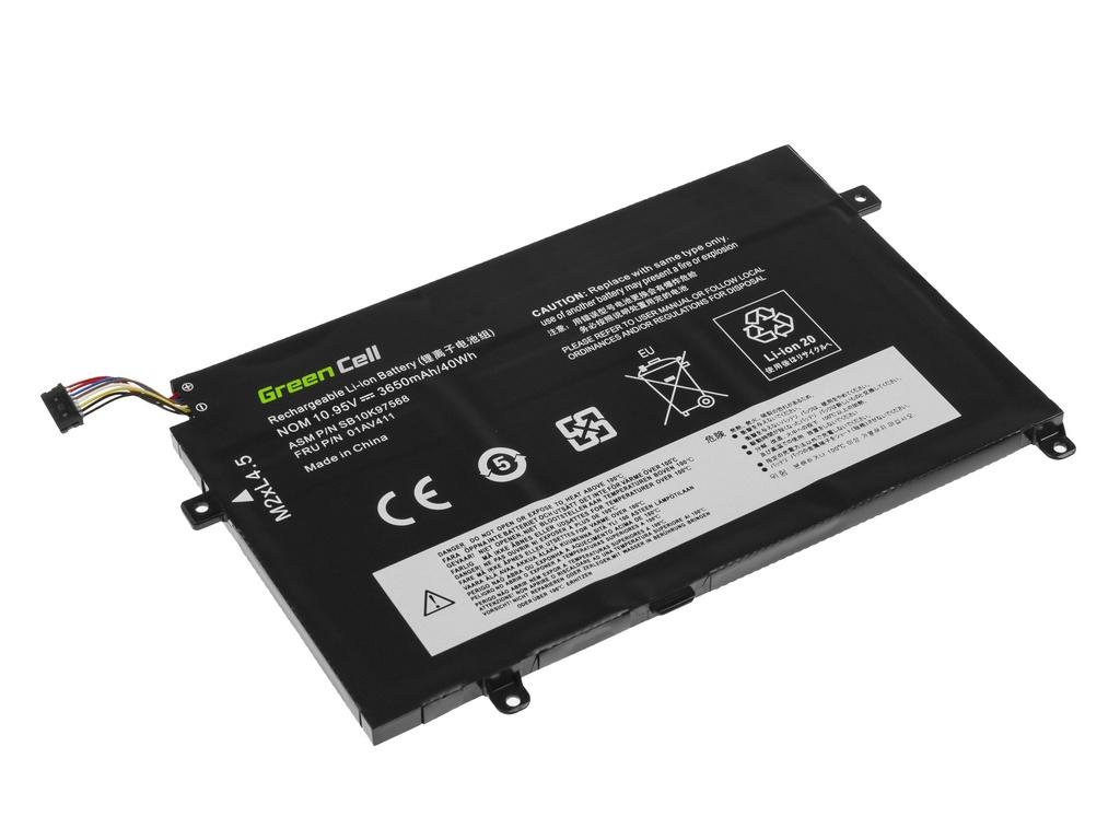 Green Cell Battery 01AV411 01AV412 01AV413 for Lenovo ThinkPad E470 E475