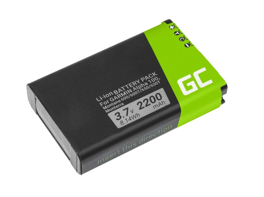 Battery Green Cell® 361-00053-00 for GPS Garmin Alpha 100 Montana 600 610 650 680