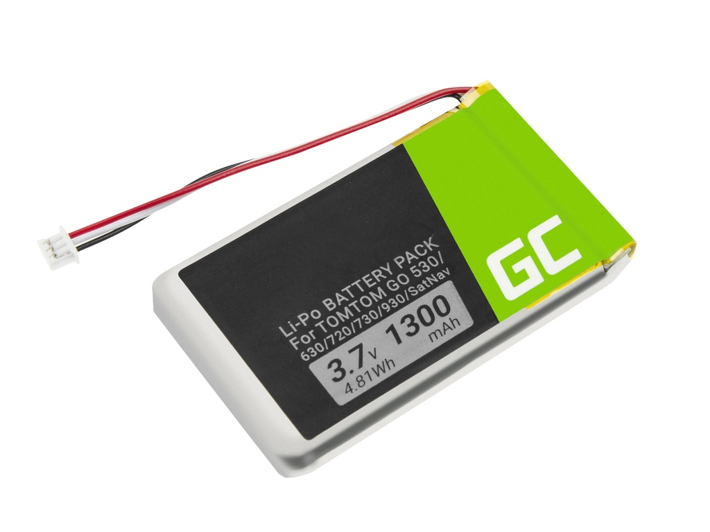 Battery Green Cell® VF8 AHL03714000 for GPS TomTom Go 530 630 720 730 930 X40 X50
