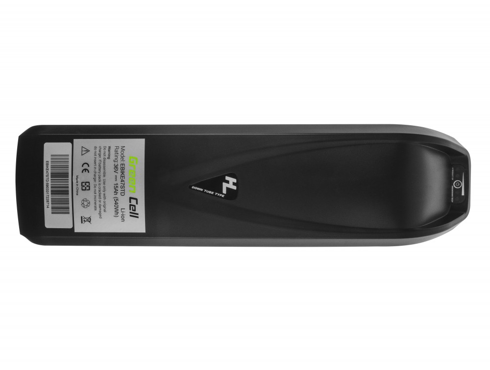 Battery Green Cell Down Tube 36V 15Ah 540Wh for E-Bike Pedelec