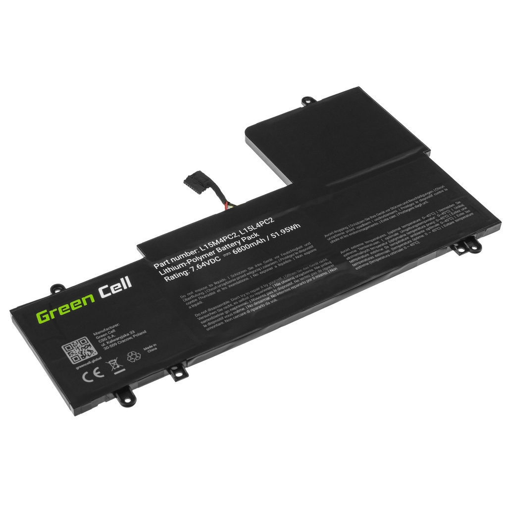 Battery Green Cell L15L4PC2 L15M4PC2 for Lenovo Yoga 710-14 710-14IKB 710-14ISK 710-15 710-15IKB 710-15ISK