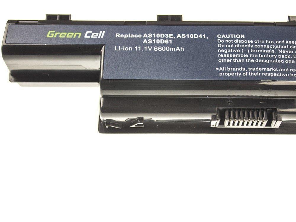 Green Cell Battery for Acer Aspire 5740G 5741G 5742G 5749Z 5750G 5755G / 11,1V 6600mAh