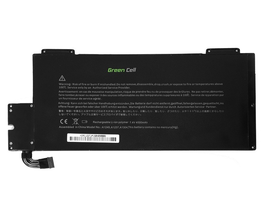 Green Cell Battery for Apple Macbook Air 13 A1237 A1304 2008-2009 / 7,4V 4400mAh