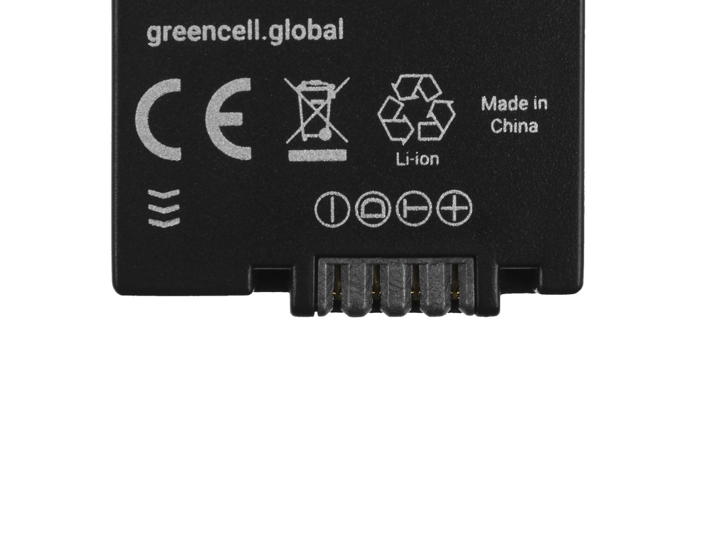 Battery Green Cell ® DMW-BMB9 (Half-Decoded) for cameras Panasonic Lumix DMC-FZ70, DMC-FZ60, DMC-FZ100, DMC-FZ40, DMC-FZ47 7.42