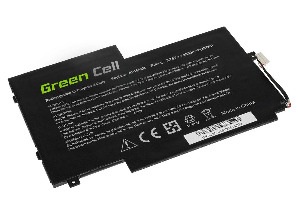 Green Cell Battery for Acer Aspire Switch 10 E SW3 SW3-013 SW3-016 / 3,75V 8050mAh