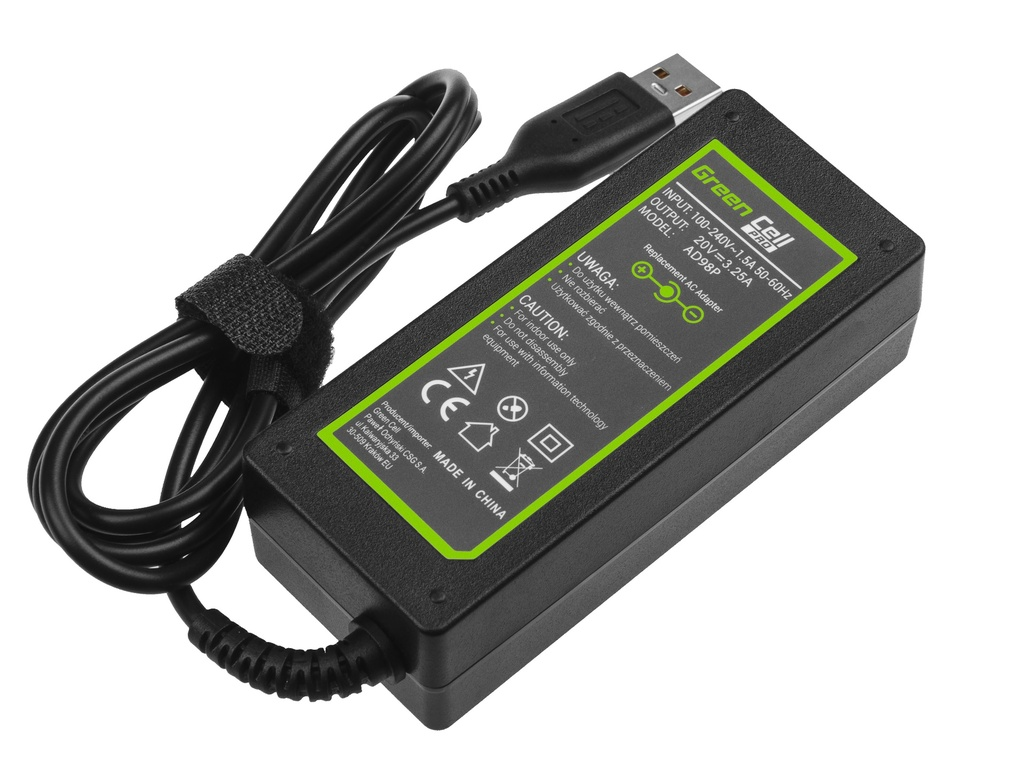 Green Cell PRO Charger  AC Adapter for Lenovo Yoga 4 Pro 700-14ISK 900-13ISK 900-13ISK2 20V 3.25A 65W