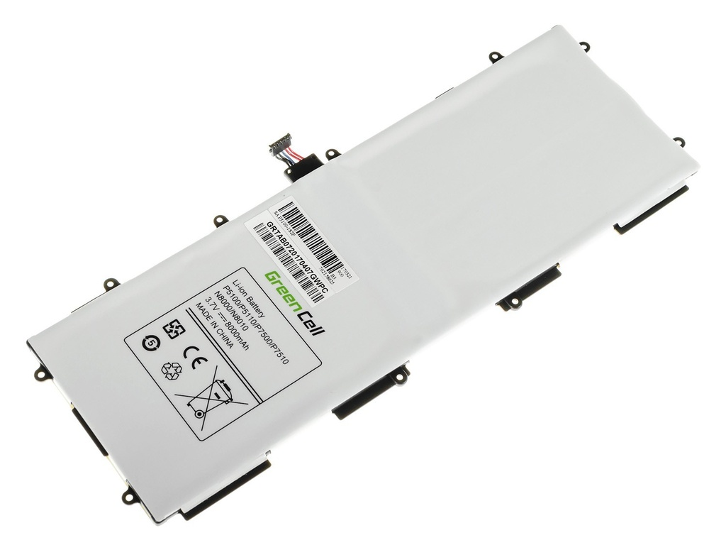 Battery Green Cell SP3676B1A for Samsung Galaxy Tab 10.1 P7500 P7510, Tab 2 10.1 P5100 P5110, Note 10.1 N8000 N8010