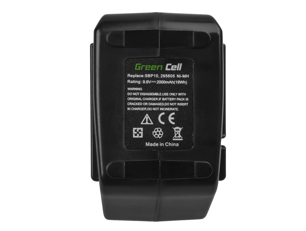 Battery (2Ah 9.6V) SBP 10 SFB 105 Green Cell for Hilti BD 2000 SB 10 SF 100 SF 100-A