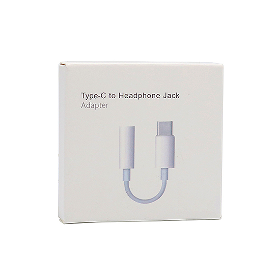 Adapter 3.5mm na Type C beli digital IC