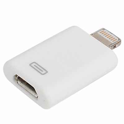 Adapter sa microUSB na Iphone 5G/5S/SE/6G/6S/6 Plus beli