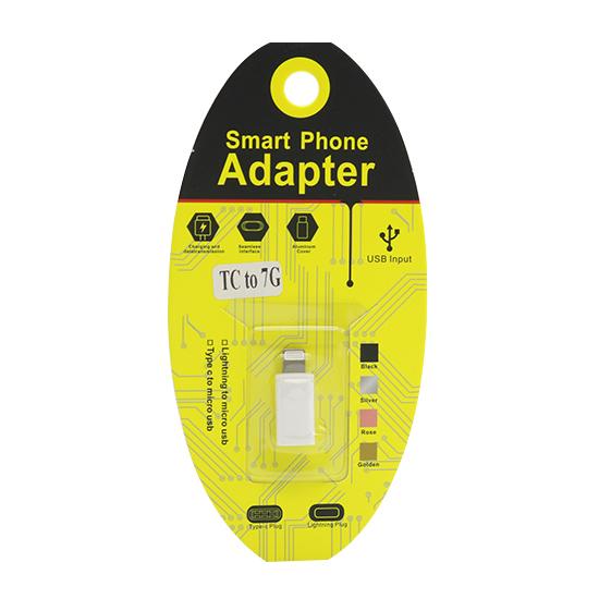 Adapter sa type C na Iphone 5G/5S/SE/6G/6S/6 Plus beli